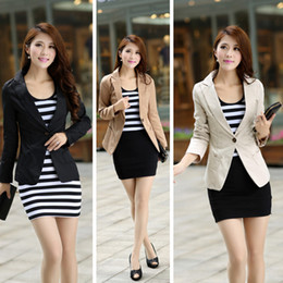 Wholesale ZALA CHIC LONG SLEEVE SLIM FIT BLAZER JACKET five Color Top Quality W4088