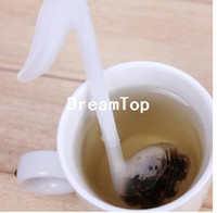 Cheap Wholesale free shipping retail novelty Music symbol spoon with Tea Strainer Note Tadpole Stirrer spoon Infuser,filter#H0055