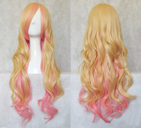 Wholesale Wholesaler cm Lolita Wave Long Cosplay Costume Wig Halloween Party Masquerade Ball Wig PW038 Drop Shipping