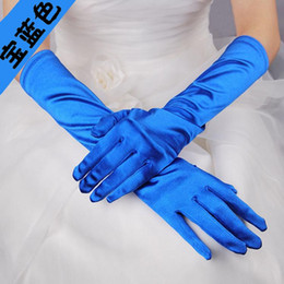 Wholesale 9color available sexy party gloves bright colorful bridal wedding gloves confortable avtivities and dancing gloves