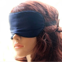 Wholesale new design and fashion silk eyeshade sweet eye mask sleeping for siesta traveling Drop shipping HC0014