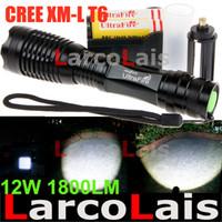 Wholesale UltraFire W Lm CREE XM L T6 Focus Adjust Zoom Led Mini Flashlight Torch Li ion Battery Charger