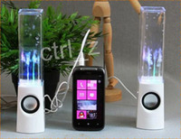 2.1 Universal Computer Dancing Water Speaker Active Portable Mini USB LED Light Speaker For PC MP3 MP4 PSP Free DHL