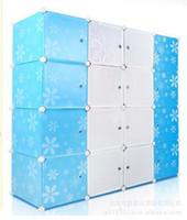 Wholesale Printing Assembled Doors Wardrobe Push pull Locker DIY Magic Piece Folding Large Cabinet Plastic Simple Wardrobes