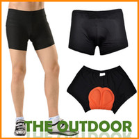 Wholesale Unisex Black Bicycle Bike Cycling Shorts Underwear Pants Gel D Padded Coolmax HW0012