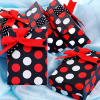 Bracelet black gift boxes - Hot Red amp White Dots Jewelry Bracelet Ring Display Black Gift Boxes