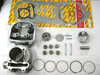 Wholesale mm Big Bore Kit Cylinder Head Piston Rings Scooter QMJ QMI152 QMJ QMI157 GY6 cc Engine mm Valve