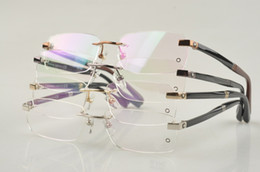 Wholesale MB101 Men Rimless Glasses Frame metal fashion brand eyeglasses frame with original paking Optical frame