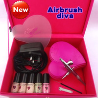 Wholesale Airbrush Makeup kit AirbrushDiva HD gun spray makeup days makeup makeup airbrush foundation set Heart
