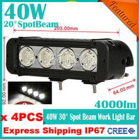 Spot Beam applied work - 4pcs quot W CREE LED W Work Light Bar Spot Flood Beam Apply Off Road SUV ATV WD x4 Jeep Boat lm Truck Lamp Driving High Power