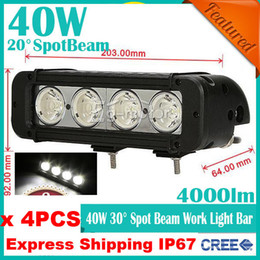 Wholesale 4pcs quot W CREE LED W Work Light Bar Spot Flood Beam Apply Off Road SUV ATV WD x4 Jeep Boat lm Truck Lamp Driving High Power