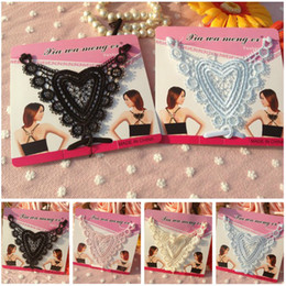Wholesale Free Ship Fashion Replacement Adjustable Lady Heart Bra Strap Lace Shoulder Straps Bra Accessories In Retail Package