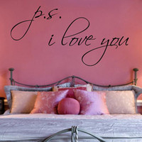 Wholesale P S I Love You Wall Decal Vinyl Sticker Art for home mural wallpaper CM