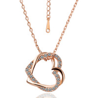 Wholesale Eternal soulmate love K rose gold necklace jewelry factory direct hot hot