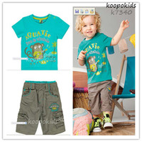 Cheap 2013 Brand New summer boys clothing sets Fashion Cotton Leisure suits for boys Children's Casual Sets*5 set lot Drop Shipping