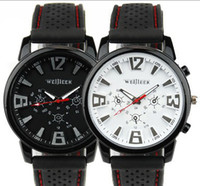 Wholesale 2013 NEW HOT outdoor sport Luxury Analog Military Pilot Aviator Army Style black Silicone WRIST WATCH for MEN ARMY quartz watch Utop2012