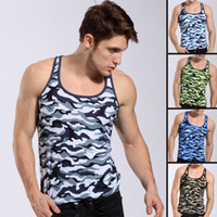camouflage fabric - Brand New Sexy Men Tank Tops Sleeveless Vest Camouflage Super Modal Fabric Vest Tops Cotton WJ Sports Tank Tops