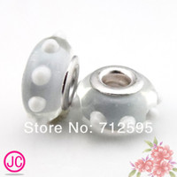 Wholesale lampwork pretty European murano glass biagi large big hole bead fit for charm bracelets
