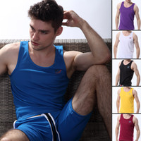 Wholesale Brand New Sexy Men Tank Tops Sleeveless Vest Dry easy Tops Quick Dry Sports Tank Tops Dry Fast Gym Wear Tank Tops