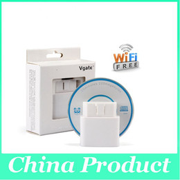 Wholesale ELM327 Vgate Muliscan Original iCar WIFI ELM327 OBD For Android PC iPhone iPad Car Diagnostic interface New Arrival in May OBD9113