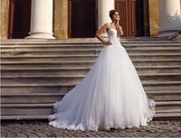 Wholesale A Line Lace Applique Beaded Bodice Tulle Skirt Lace Hem Style Designer Wedding Dress