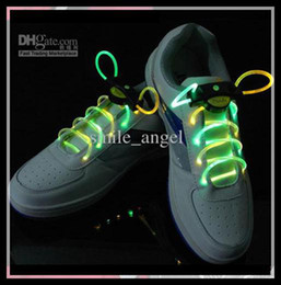 Wholesale Shoe Laces for parties performaing High Quality new LED Flashing Shoelace Shoe Laces Kids Toys good Fashionable Dancing wearing party