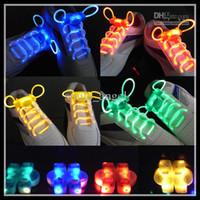 Wholesale LED Flashing Shoelace Light up Shoe Laces Laser Shoelaces Fashionable Dancing wearing party items