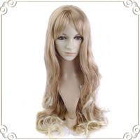Cheap Blonde long wavy hair Best Mix Texture 36'' synthetic hair
