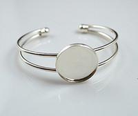 South American beautiful blank - 20mm beautiful bracelet setting bracelet blanks silver for choose