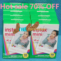 Wholesale Free DHL Fuji instax polaroid once imaging mini picotee film photo paper s s