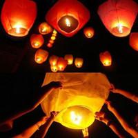 Cheap Free Shipping Chineses Lantern Sky Lantern Kongming Lantern Flying Wishing Lamp Wedding Party Paper Lights