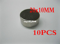 Wholesale 20mm x mm N35 Disc Disk Rare Earth Neo Neodymium Strong Industrial Magnet