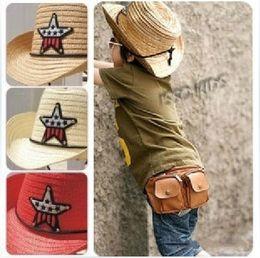 Wholesale Baby Sun Hats Fedora Straw Hats Western Cowboy Cap Costume Gift Jazz Hats Good Quality BB35