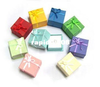 Wholesale 264 mixed colors bottom price jewelry rings paper boxes gift package ring box