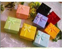 Jewelry Jars   48 pcs mixed colors cheap price silver jewelry rings paper boxes gift package ring box