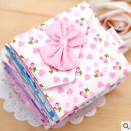 Wholesale Girls must have item sanitary Sanitary napkins package Cotton Fold bag Cute bow napkin bag napkin Pouch Y634