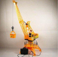 Wholesale Large size Hercules remote control construction crane kids electric rc hoist by wire toys degree rotation