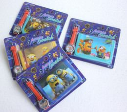 Cute 30 sets Despicable Me Watches wristwatches with XMAS Gift + Purses Wallets Free shipping!