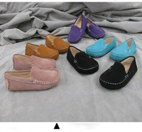Wholesale 2014 NEW kids shoes moccasin gommino boy girls baby genuine pigskin leather Children s girl boys casual autumn
