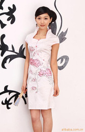 Wholesale sexy women dress short sleeve flower wedding dress