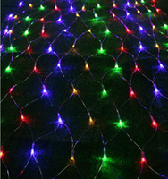 Rgb led net Avis-fairy Fashion corneoscleral noël Lustres filets lampes LED lumières net 3m * 2m 200LED