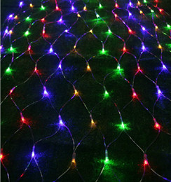Rgb led net en Ligne-fairy Fashion corneoscleral noël Lustres filets lampes LED lumières net 3m * 2m 200LED