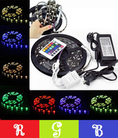 Wholesale New Arrival Christmas Light M RGB Led Light Strip Led M Waterproof IP65 V PCB Black Controller V A Power Supply