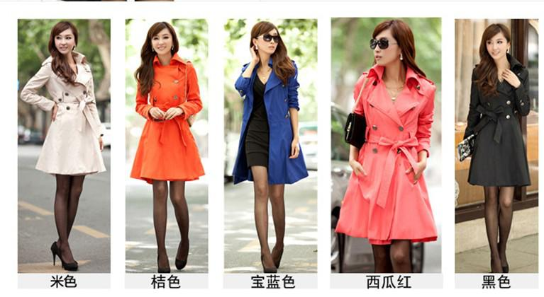 2017 Spring Fashion The New South Korean Style Lapel Polo Collar Leisure Trench Coat Can Choose