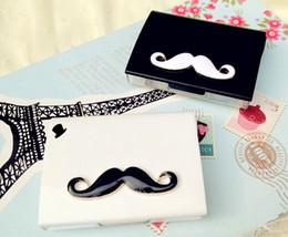 Wholesale New Arrival Super Cute DIY Mustache styles contact lenses case amp box lens Companion box