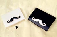 Wholesale Hot Sale New Super Cute DIY Mustache styles contact lenses case amp box lens Companion box