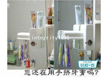 Wholesale by CPAM New Automatic toothpaste Dispenser toothbrush holder toothbrush Family set g set red white to choice