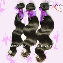 Wholesale 3pcs inches Virgin Brazilian hair extensions body wave hair weft queen hair products No processed human hair weave