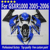 Wholesale 7 Gifts fairings kit for SUZUKI GSX R1000 GSXR K5 gsxr1000 gsx r1000 glossy black with dark blue body fairing Sf6