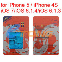 Wholesale Unlock R SIM RSIM8 Dual Sim Card Unlock for iPhone S iOS iOS Univeral GSM CDM Support G G Net CA0005
